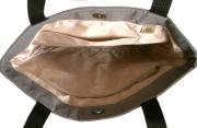 本革ポケット付き麻手提げ袋(大)内側
